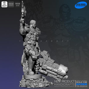 1/24  Resin Kits resin shock Super Guard soldiers were  self-assembled TD-202034