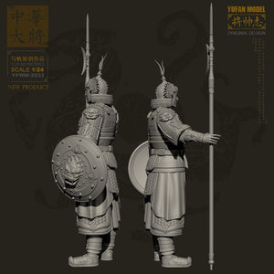 YUFAN Model 1/24 Resin Kits Figure  Ancient Chinese resin soldier Model self-assembled YFWW-2033