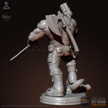 Load image into Gallery viewer, new 75mM 1/24 Resin Figure Kits Samurai Warrior Model Self-assembled TD-2135