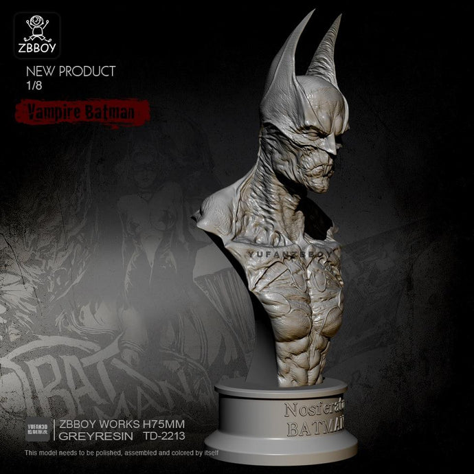 new 75MM Resin Bust of Vampire Batman Model Self-assembled TD-2213