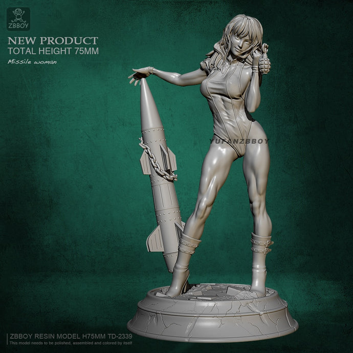 75MM Resin figure kits beauty self-assembled TD-2339