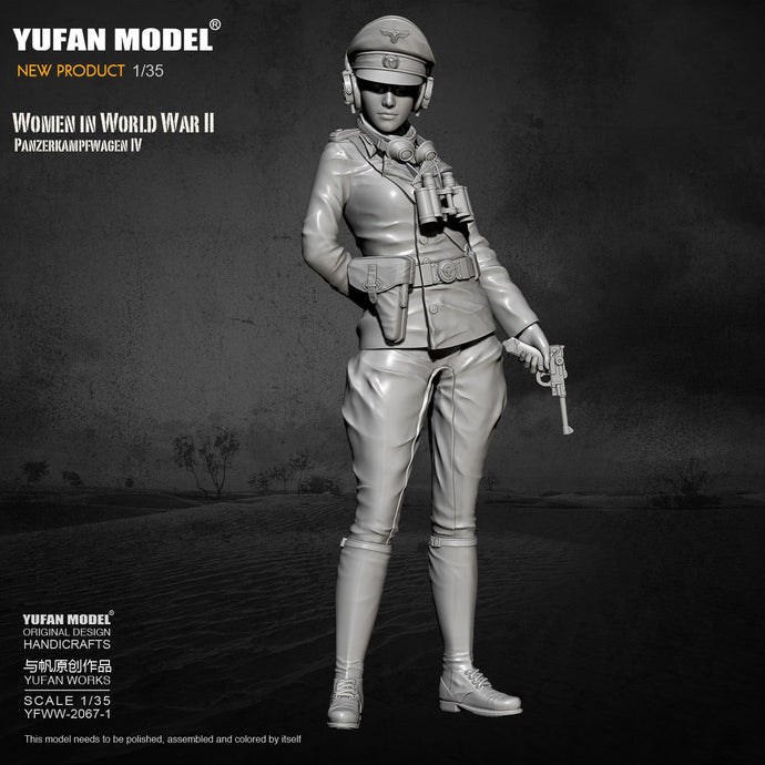 1/35 Yufan model Resin Model Tank soldier beauty self-assembled YFWW-2067-1