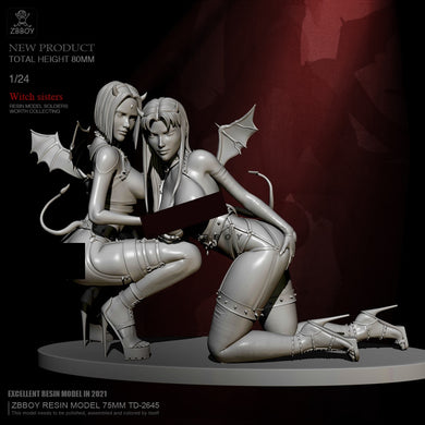 H75mm 1/24 Resin model kits figure colorless and self-assembled TD-2645
