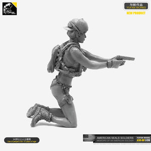 1/35 Resin Kits Soldier Model (US Army SEALs)  self-assembled A18-09