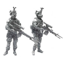 Load image into Gallery viewer, 1:35 US Marines Soldier with M240 Machine Gun and Gas Mask Resin Scale Figure BEE-05 - Yufan Models Store
