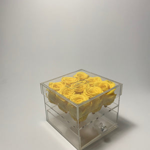 Transparent 9 Rose Yellow