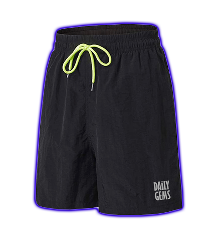 NYLON 3M LOGO SHORTS (BLACK)