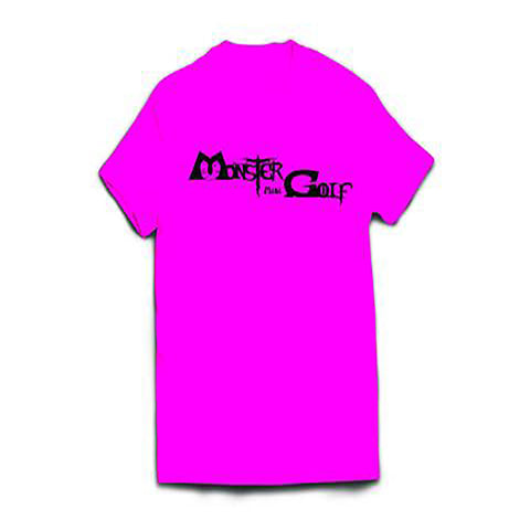 Neon Pink Monster Mini Golf T