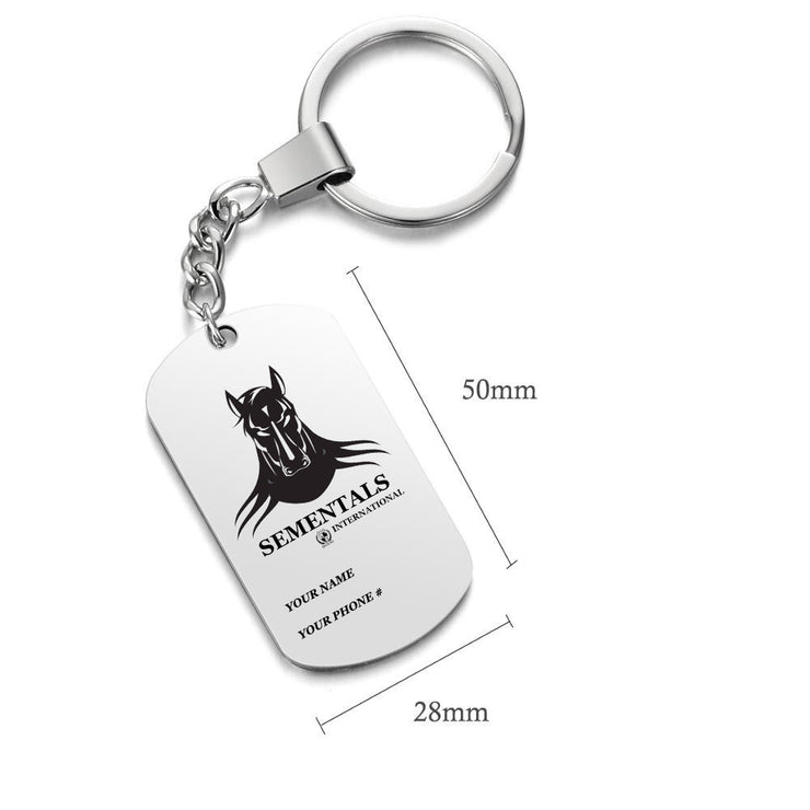 Personalized Tag Keychain
