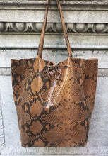 Load image into Gallery viewer, Snake Print Leather Tote