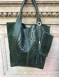 Sacca Alligator Embossed Tote