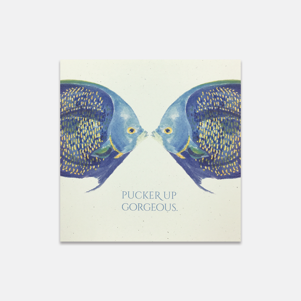 Pucker Up Fish Greeting Card