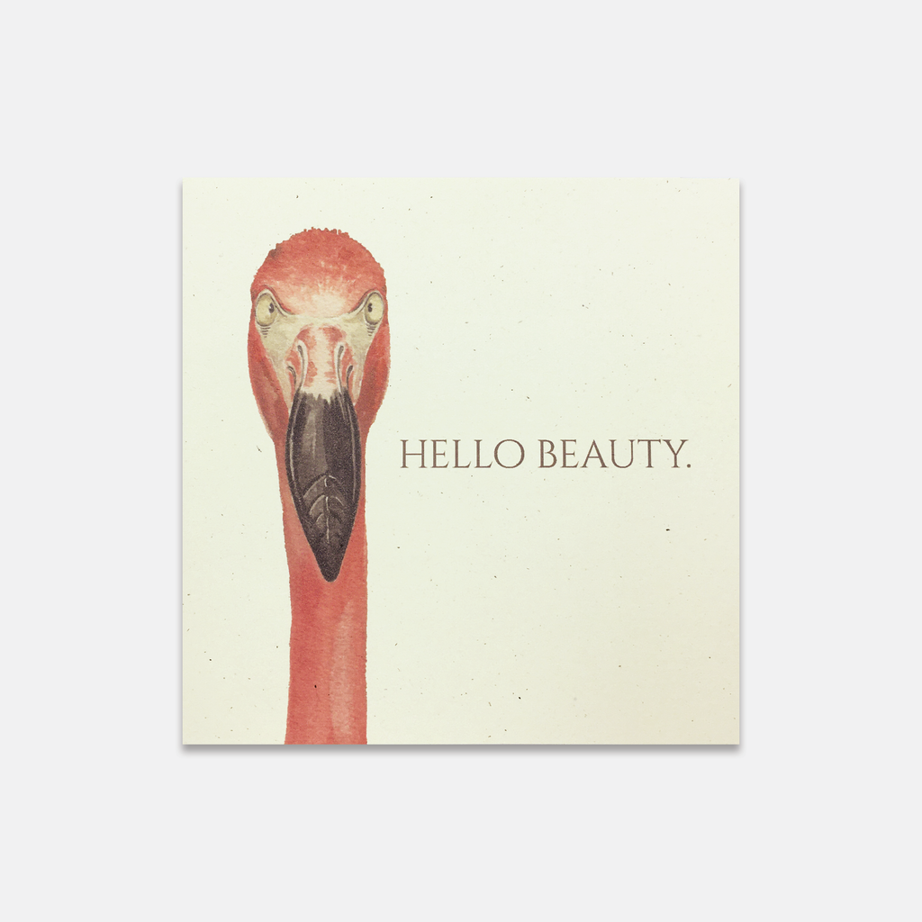 Magnificent Beasts - Hello Beauty Flamingo Greeting Card