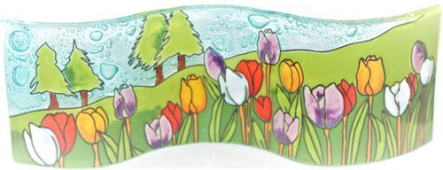 The Bridge Fair Trade Handmade Glass Tulip Picture Frame from Ecuador