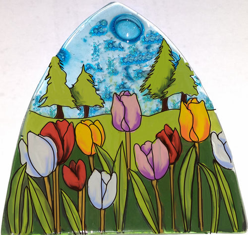 The Bifgr Fair Trade handmade glass tulip night light from ecuador