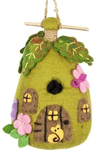 The Bridge Fair Trade Handmade Felt Fairy House Birdhouse from nepal