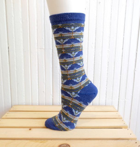 The Bridge Fair Trade Handmade Tulip Patterned Alpaca Socks from Peru