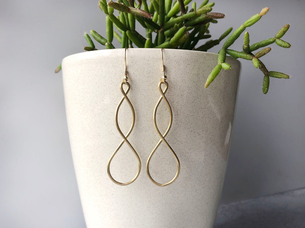 The Bridge Fair Trade Handmade Double Helix Metal Earring from India
