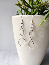 Load image into Gallery viewer, The Bridge Fair Trade Handmade Double Helix Metal Earring from India