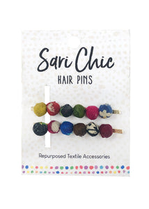 The Bridge Fair Trade Handmade Sari Hair Pins from India