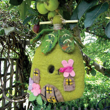 Load image into Gallery viewer, The Bridge Fair Trade Handmade Felt Fairy House Birdhouse from nepal