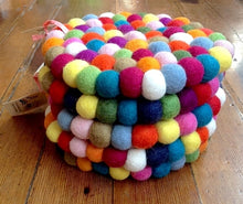 Load image into Gallery viewer, The Bride Fair Trade Handmade Felt Balls trivet multi color from Nepal