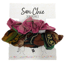 Load image into Gallery viewer, The Bridge Fair Trade Handmade Kantha Scrunchie from India