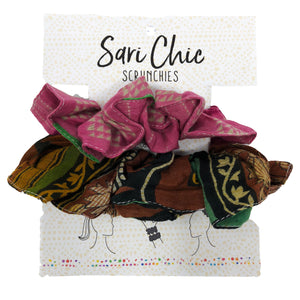 The Bridge Fair Trade Handmade Kantha Scrunchie from India