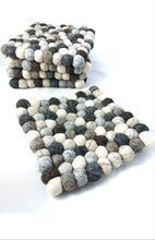 Load image into Gallery viewer, The Bridge Fair Trade Handmade Felt Ball Trivet Natural from Nepal