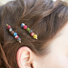 Load image into Gallery viewer, The Bridge Fair Trade Handmade Sari Hair Pins from India