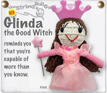 Load image into Gallery viewer, The Bridge Fair Trade Handmade Glinda the Good Witch String Doll from Thailand