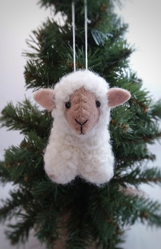 The Bridge Fair Trade Handmade Felted Sheep Ornament from Nepal