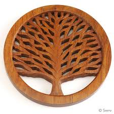 The Bridge fair Trade handmade tree of life trivet