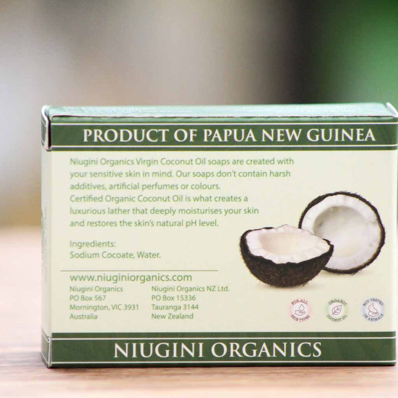 Niugini Organics - Coconut Oil Soap - Unscented - Ingredients