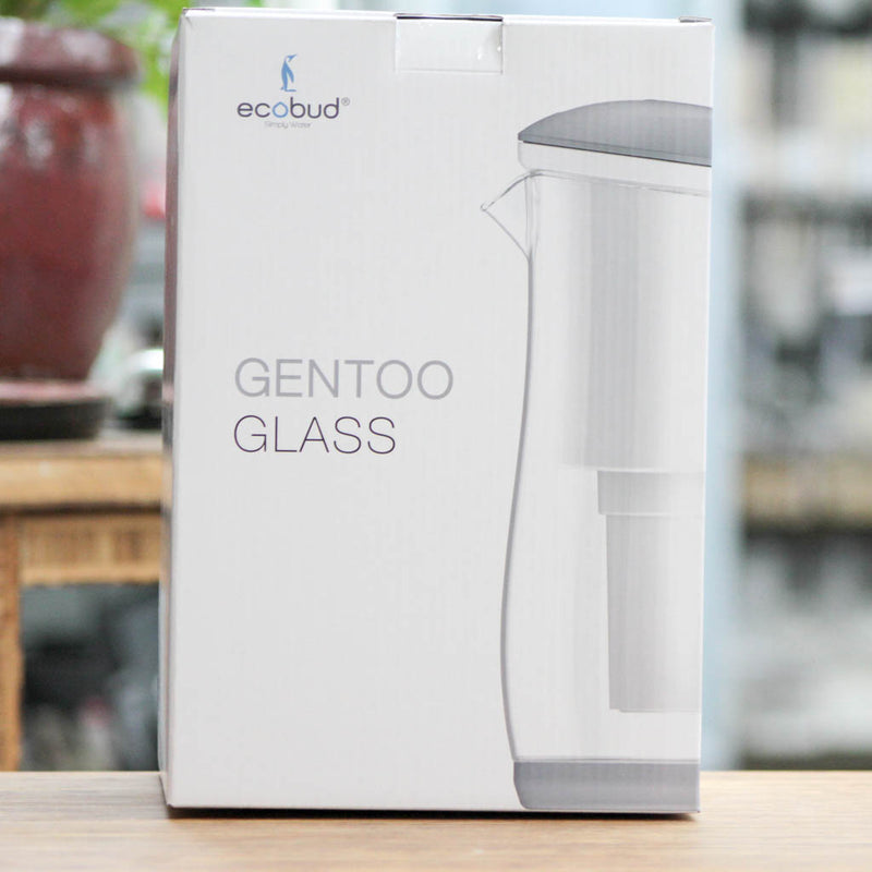 Ecobud - Gentoo Glass Water Filter Jug