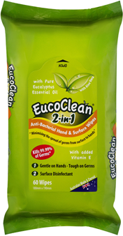 Eucoclean - Wipes 2-in-1 Disinfect/Clean