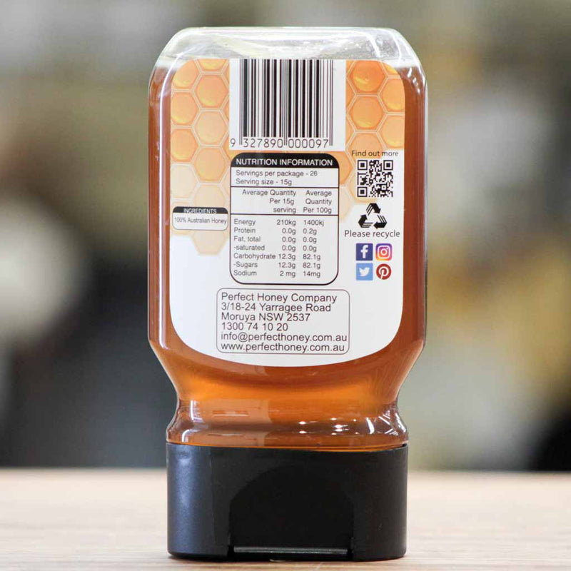 Blue Hills Apiary - Pure Australian Honey Squeeze - Nutritional Information