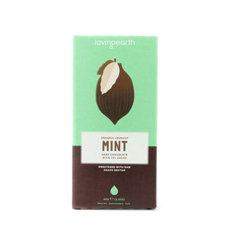 Loving Earth - Crunchy Mint Dark Chocolate