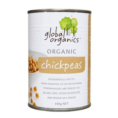 Global Organics - Chick Peas Organic (canned) 400g