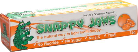 Natures Goodness - Snappy Jaws Toothpast Orange