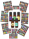 Cartoon + Realistic Essential Oil Bottles Bundle {265 stickers}