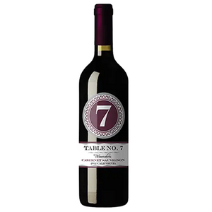 2017 Table # 7 Cabernet Sauvignon, $22.95 per bottle, Case of 12