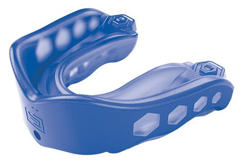 SHOCK DOCTOR GEL MAX STRAPPED - BLUE - ADULT