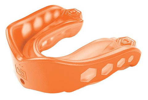 SHOCK DOCTOR GEL MAX STRAPPED - ORANGE - ADULT