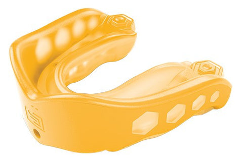 SHOCK DOCTOR GEL MAX STRAPPED - YELLOW - ADULT