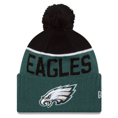 NFL NEW ERA BEANIES WITH POM POM EAGLES