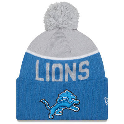 NFL NEW ERA BEANIES WITH POM POM LIONS