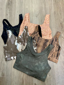 Gina Green Camo Sports Bra
