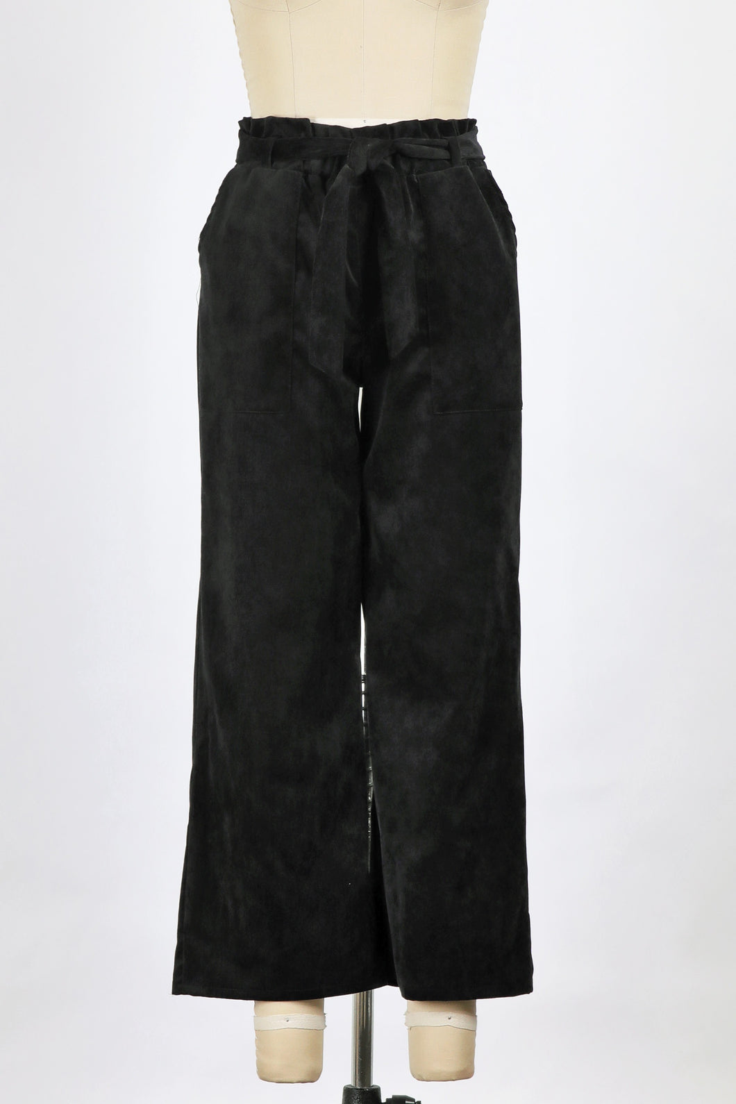 Corduroy Cropped pant with belt - Branches and Blossoms
