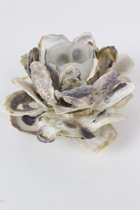 Oyster shell flower votive holder - Branches and Blossoms